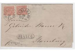 Sweden 1866 Cover F16