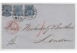 Sweden 1871 Cover F9