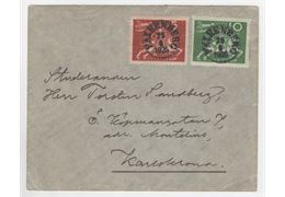 Sweden 1925 Cover F211+2