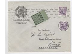 Sweden 1943 Cover F273B+A