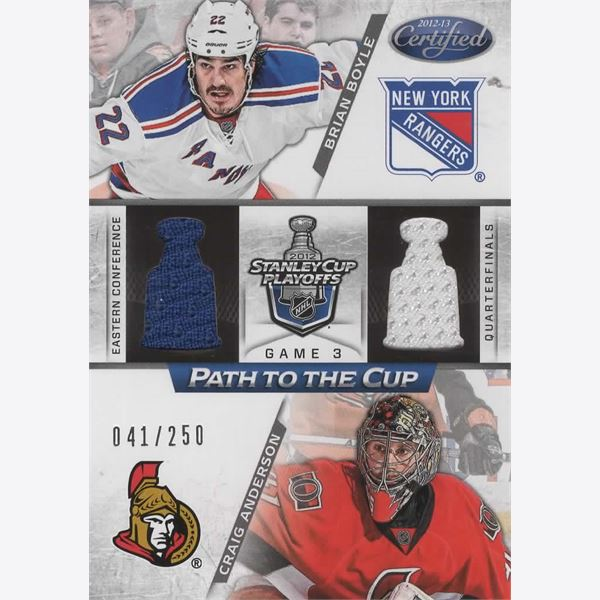 2012-13 Samlarbild Certified Path to the Cup Quarter Finals Dual Jerseys 24