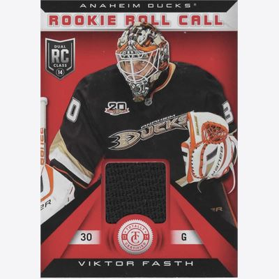 2013-14 Samlarbild Totally Certified Rookie Roll Call Jerseys Red #RRVF