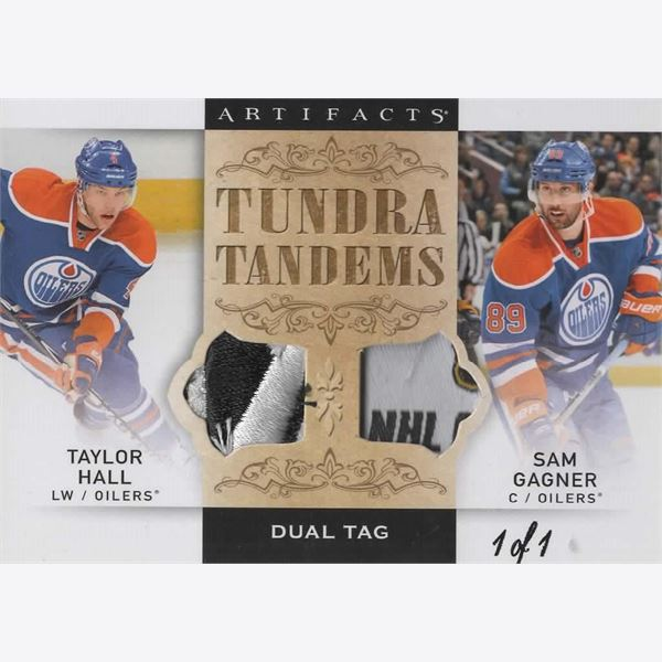 2014-15 Samlarbild Artifacts Tundra Tandems Tags Black #TTHG