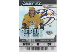 2019-20 Samlarbild Upper Deck Credentials Debut Ticket Access Acetate #RTA4