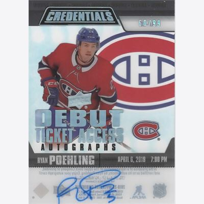 2019-20 Collecting Card Upper Deck Credentials Debut Ticket Access Acetate Autographs #RTAARP