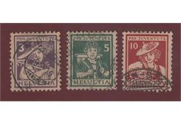Switzerland 1916 Stamp Mi130-2 Stamped