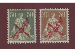 Switzerland 1919/20 Stamp Mi145+52 ✳