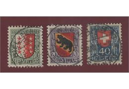 Switzerland 1921 Stamp Mi172-4 Stamped