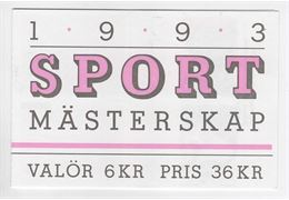 Sweden Booklet H434