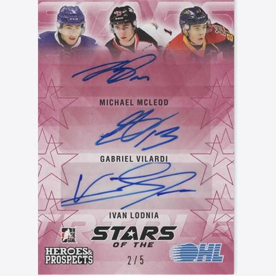 2016-17 Samlarbild ITG Heroes and Prospects Stars of the OHL Autographs Red #SO02