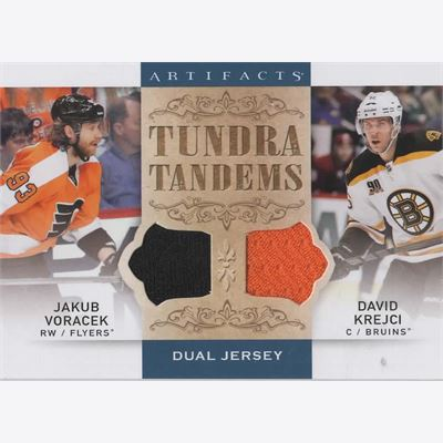2014-15 Collecting Card Artifacts Tundra Tandems Jerseys Blue #TTVK