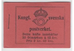 Sweden Booklet H10 O